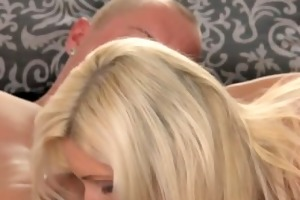 mom golden-haired d like to fuck makes love to