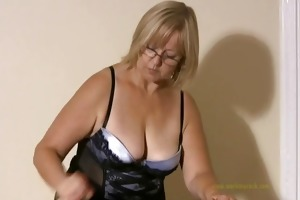 large titted professional masseuse sensually