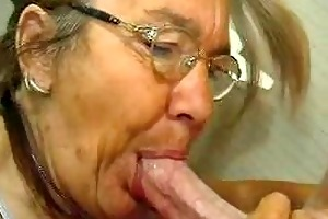 scrawny old granny does like a c...