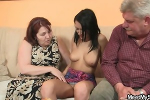lewd whore fucking his old parents!