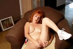 older non-professional redhead squirts