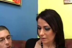 eva karera double permeated at job interview