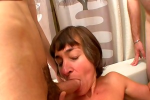 french housewife marina team-fucked