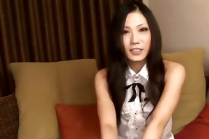 yui in haunch high dark nylons sucks on a hard