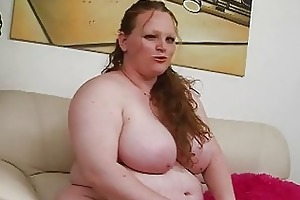 pale biggest redhead momma uses her recent sex