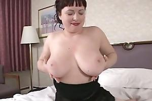 hawt brunette hair mother i show us her large