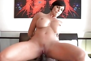 breasty d like to fuck floozy jumping on a large