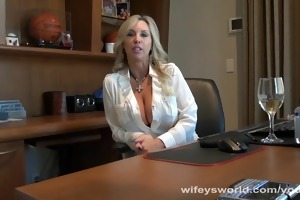 doctor wifey blows penis to check jism
