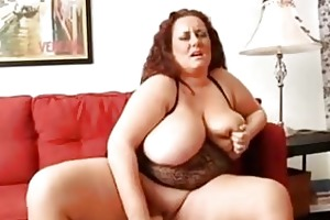 solo bbw older woman with large t...