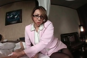 glamorous oriental mother i takes off his panties