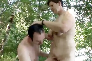 older pair outdoor sex !!