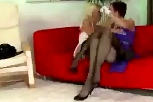 aged lady in nylons love tunnel eating
