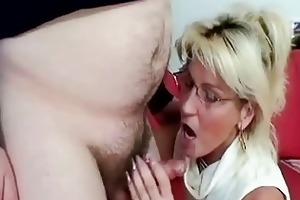 breasty aged sucking old shlong like a pro floozy