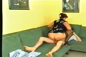 horny german mamma facialized by lad - roleplay -
