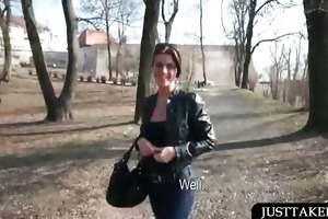 hot playgirl shows her sexy assets in public