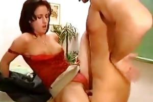 sexy teacher receive screwed hard in classroom