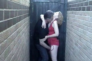 sexy aged red head joy outdoor