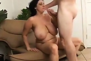 chunky mother with large tits