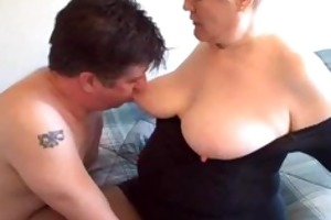 sexy golden-haired curvy non-professional granny