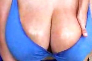 large breast mother i in bikini widening outside