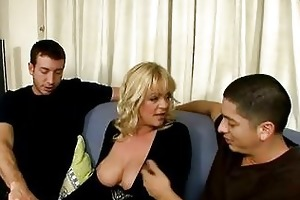 breasty british golden-haired mommy catches alex