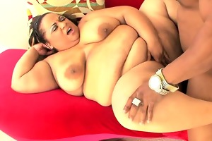 overweight darksome babe getting pounded