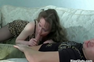 sexy and concupiscent older angel sits on hard