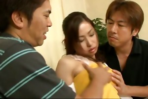 chie inamori screwed and creampied in a trio
