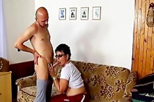 horny older wife engulfing wang and acquires