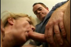 charming blond grandma enjoys fucking and sucking