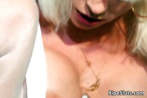 nice-looking mature blond acquires pierced part1