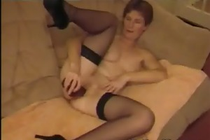 dilettante older uk wife playing with black fake
