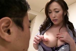 hawt milf miyama ranko teases a lustful lad with