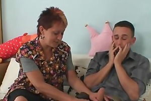 jock hungry mother-in-law jumps on his pounder