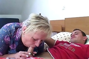 old granny is group-fucked by an youthful pickuper