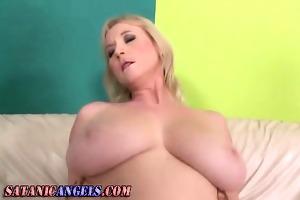 breasty older hoe receives butt rammed