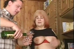 big beautiful woman curly granny with large