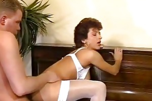 older dilettante wife homemade trio with cum