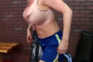 large tit blonde d like to fuck pornstar gym
