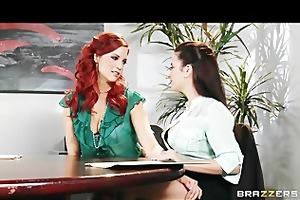 slavemaster redhead lesbo convinces her co-worker