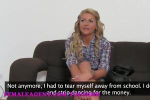 femaleagent hd reality tv sweetheart tries porn
