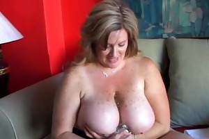 charming cougar has admirable large bumpers