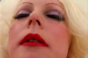 pierced big beautiful woman golden-haired mother