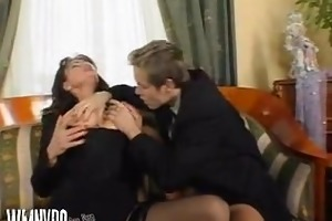 superb bushy aged fuck and squirt sex