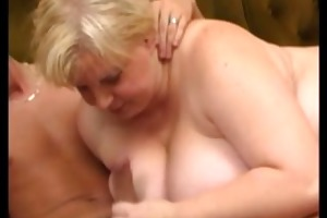 golden-haired big beautiful woman with biggest