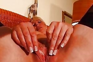 older blonde enjoys her own body dbm movie
