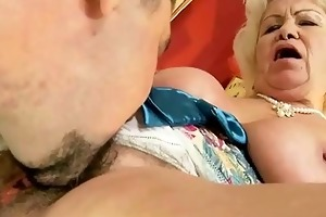nasty granny acquires screwed glamorous hard
