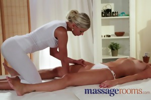 massage rooms wet juvenile girl acquires hard