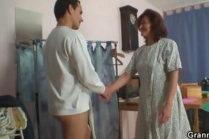 sewing granny takes his ramrod