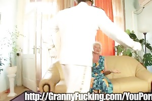 enjoyment granny sucks dick
